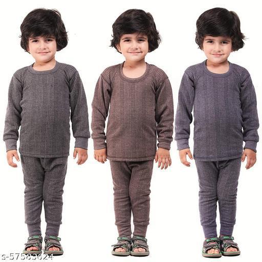 Supertive Unisex Regular Fit Thermal Top and Pyjama Set (Pack of 3)