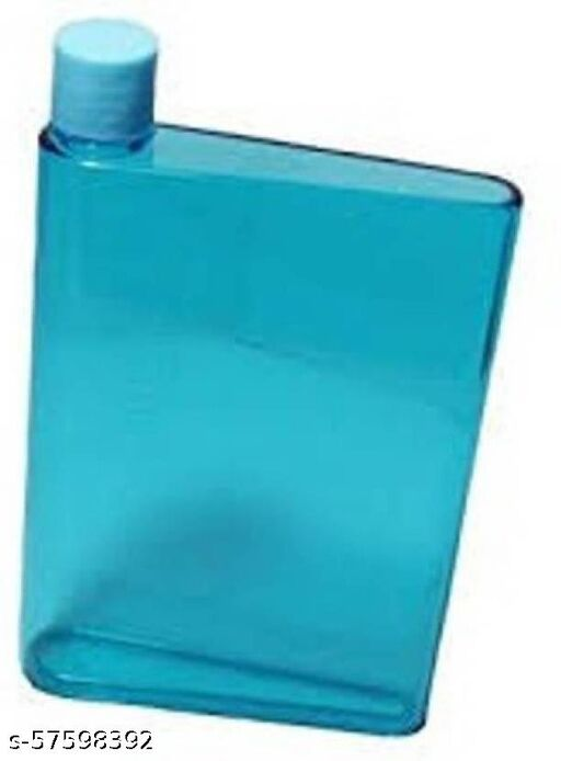 Aadvik Portable Reusable Slim A5 Size Notebook Water Bottle Bpa-free Multipurpose 420 ml Bottle  (Pack of 1, Multicolor, Plastic)