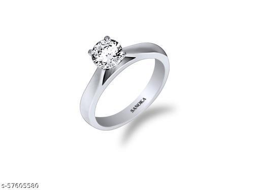 Sanoka Sterling Silver Zircon Silver Plated Ring