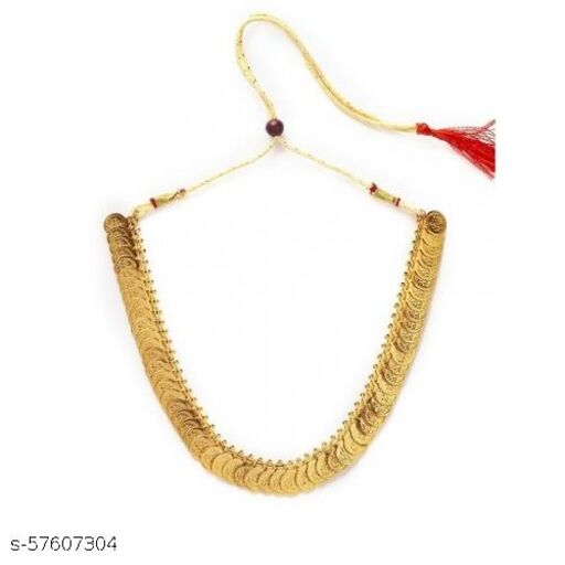 Traditional Gold Plated Handcrafted Lakshmi Haar Necklace
