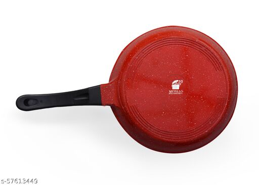 Metello Die Cast NonStick Red Marble Frypan 24 cm