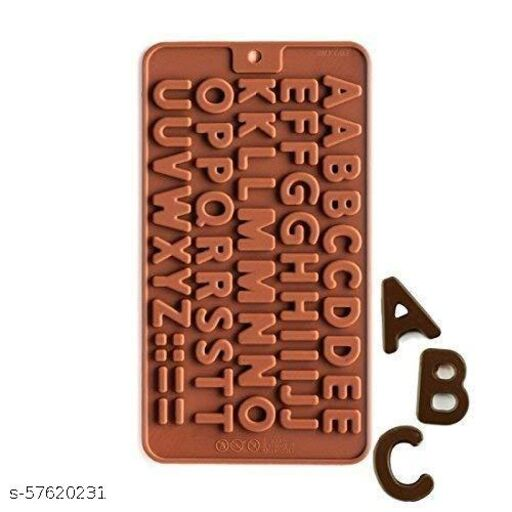 Kshitija Shoppers Silicone Alphabets ABCD Shape Chocolate Mould Jelly Candy Mold | Cake Baking Mold | Bakeware Chocolate Mould - Pack of 1