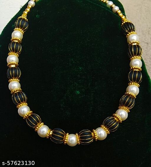 Trendy traditional silk thread Necklace
