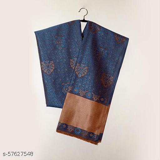 Blue Stylish Acrylic Shawl
