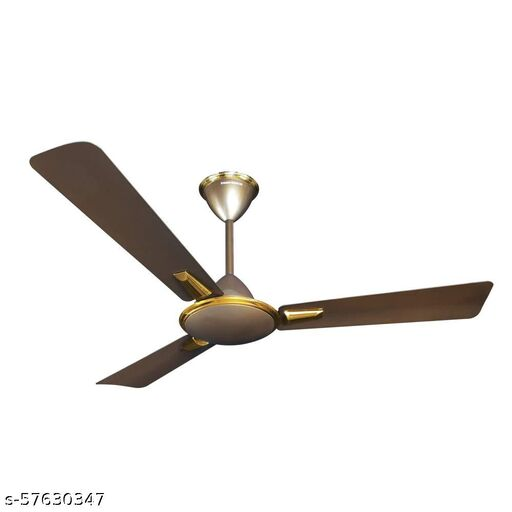 Crompton Aura Prime 1200 mm (48 inch) Decorative Ceiling Fan with Anti Dust Technology (Dusky Brown)