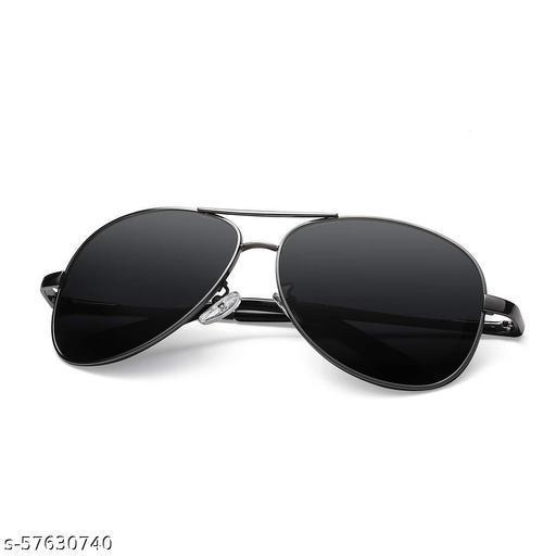 Unisex Adult Aviator Sunglasses (Black Lens)