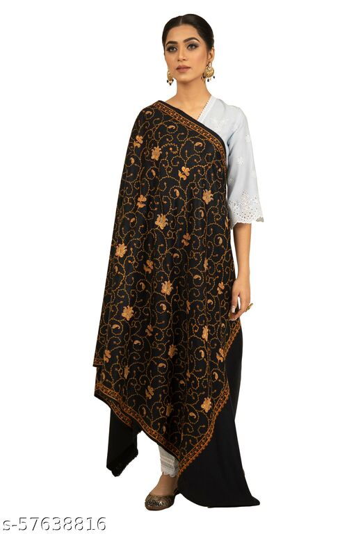 SHAL-E-PASHM  Women's Embroidered Warm And Thick Shawl