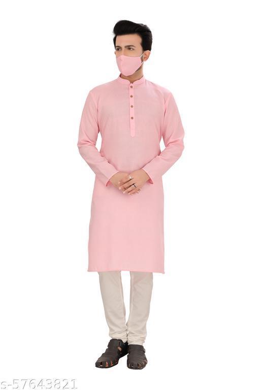 Heora Men's Cotton Regular Partywear Kurta and Pyjama Set (LE 053)