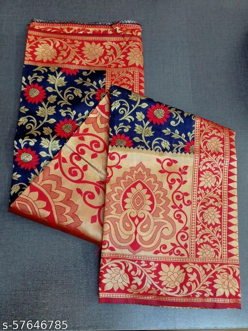 Trandy Multicolor Banarasi Art silk saree With Blouse
