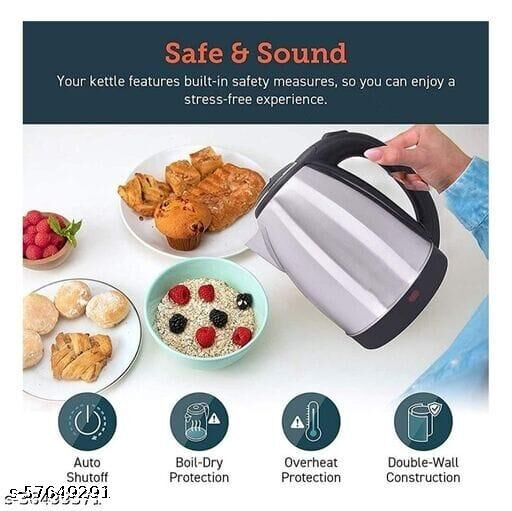 Scarlet Electric Kettle 2 Litre Design for Hot Water, Tea,Coffee,Milk, Rice and Other Multi PuRP Accessoriesose Cooking Foods Kettle