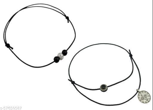High Trendz Black Thread Knot Anklet ComboFor Women And Girls