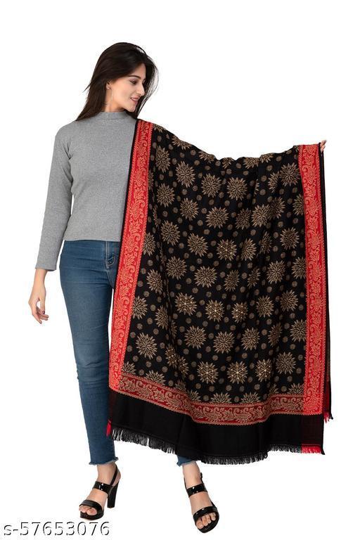 Designer Black Shawl For Women