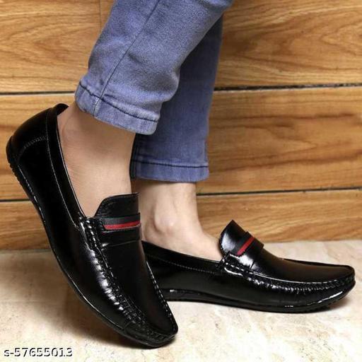 Loafers For Men  (Black)