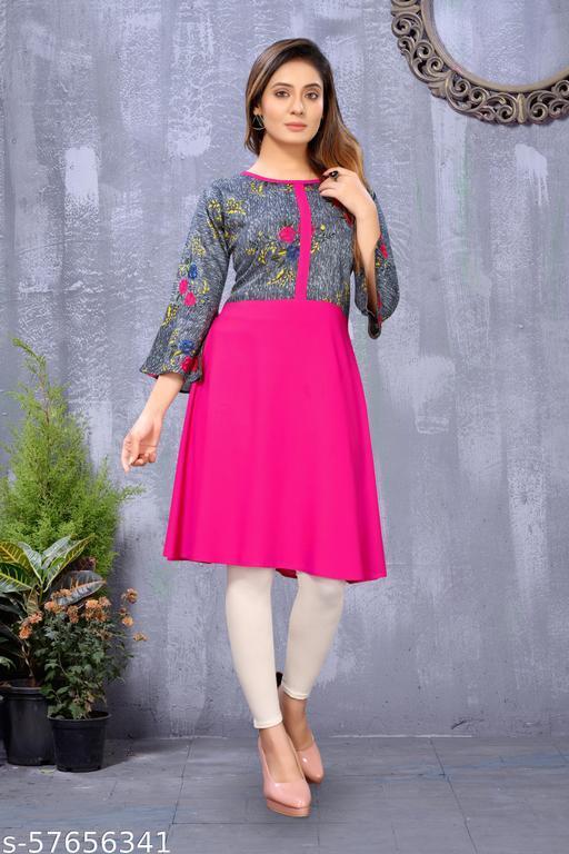 Beautiful Designer Rayon Stitched Kurti.