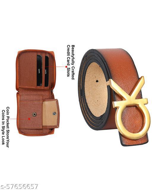 Men's Casual Stylish Belt & Wallet Combo