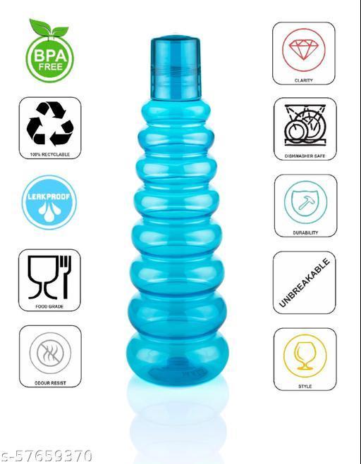 Pyramid plastic water bottle