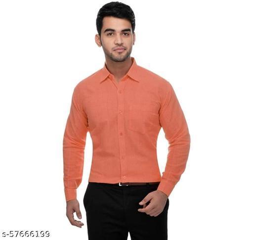 Men Regular Fit Solid Collar Formal Shirt