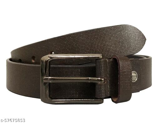 Vysoky Men's Casual, Formal, Party Black Genuine Leather Belt