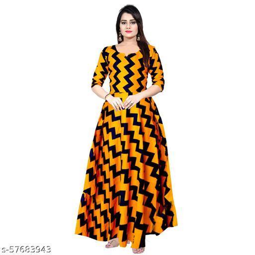 DEEPA CREATION Women Stylish Comfortable Rayon Printed Gown Kurti Dress