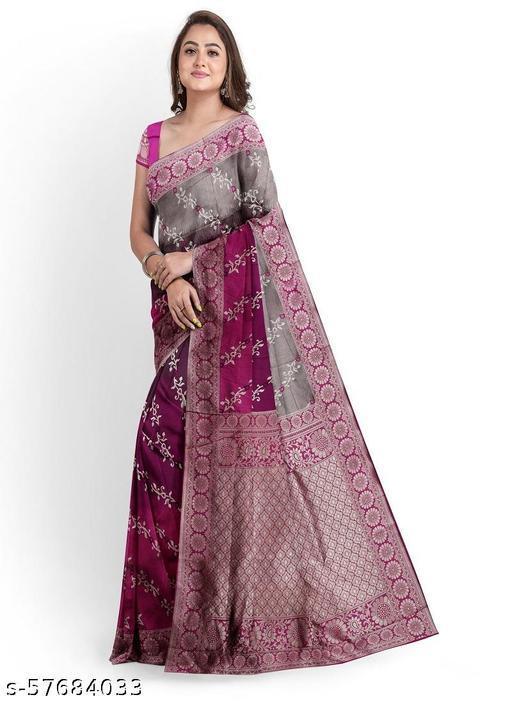 Women's Soft purple vel saree with blouse