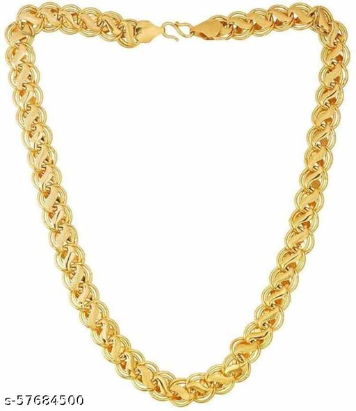 Artificial Classic Plain Gold-plated Plated Brass Chain Gold-plated Plated Brass Chain Double Coated Neck Chains For Boys & Men Gold-plated Plated Brass Chain