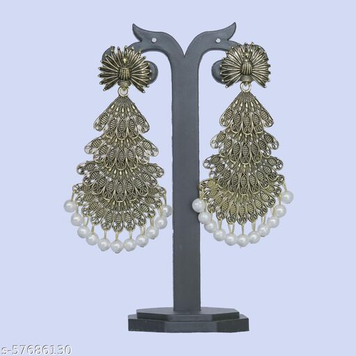 Party Wear Designe Earrings Alloy Plug Earring