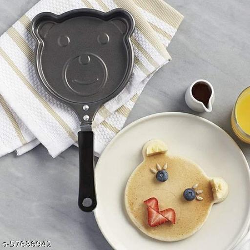 Hustle Grind Kids Egg Frying Pan | Non Stick Pancake Maker | Cartoon Shaped Design | Omlette, Uttapam and Dosa Mini Non-Stick Composite Steel Breakfast Pan