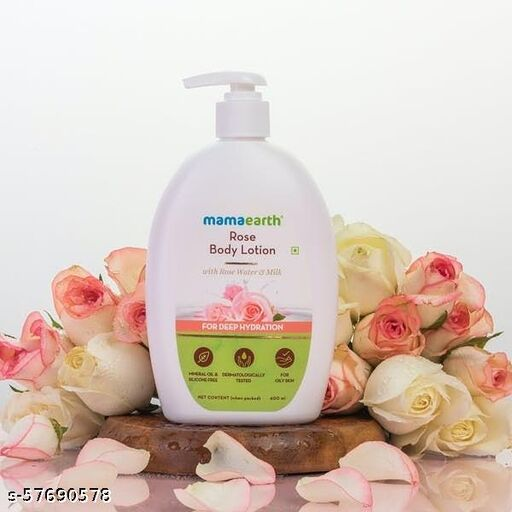 n-1Mamaearth Rose Body Lotion with Rose Water and Milk For Deep Hydration - (400ml, All Skin Types)