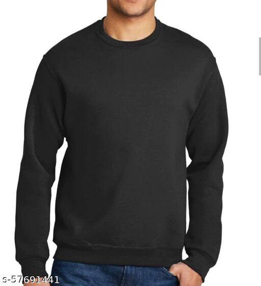 Plain Black Swetshirt
