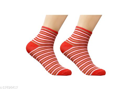 Colorful Pure Cotton Ankle Length Socks For Women 1