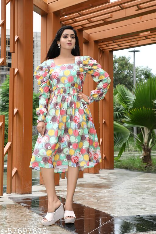 Polyester Western Dress