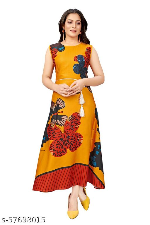 Morbrix  Womne's Fit And Flare Fancy Western Cotton Floral Dress