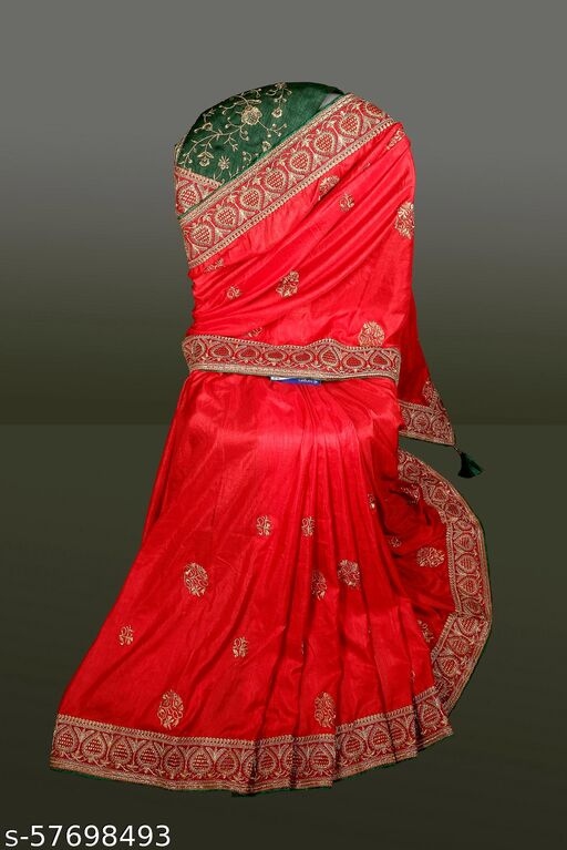 embroidery sarees for party wear