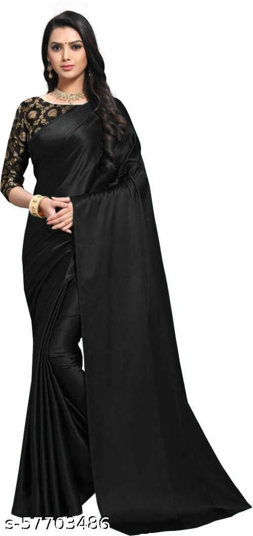 Very Nice Satin Silk Saree Blouse Jacquard Matka