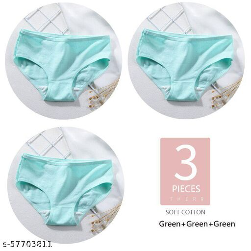 Women Sexy Seamless Cotton Briefs Panties Candy Color Stretchable Body Shaper Underpants 3Pcs