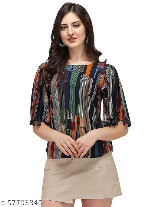 Partywear Rayon Top For Girls
