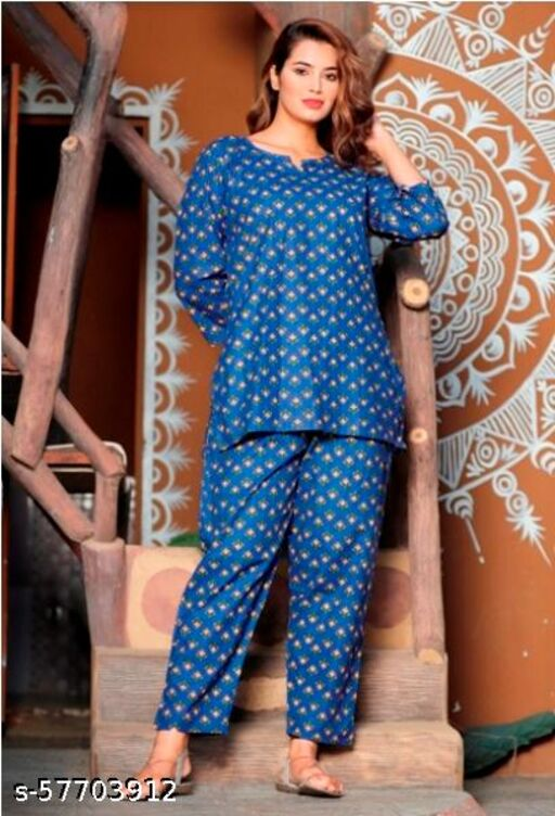 Pure Cotton Printed Nightsuits