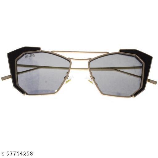 affable women over sized sunglasses by jazz inc (LWF624 Golden frame, Green lens)