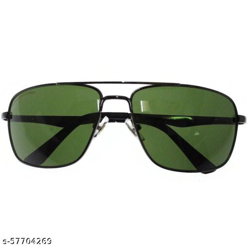affable unisex over sized sunglasses by jazz inc, frame color grey and lens color green (LWF2223)