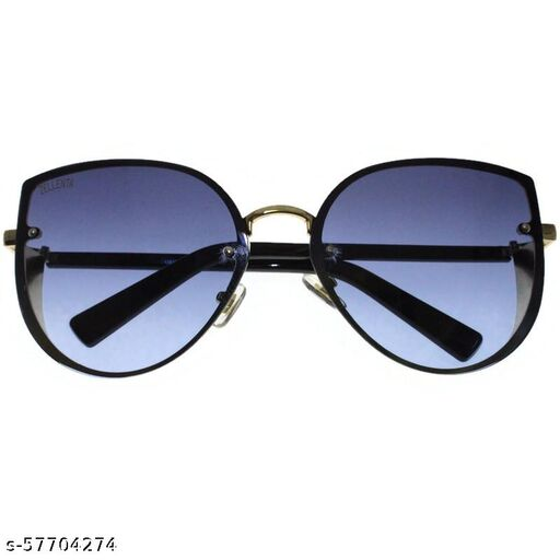 affable women over sized sunglasses by jazz inc, frame color gold and lens color blue (LWF220)