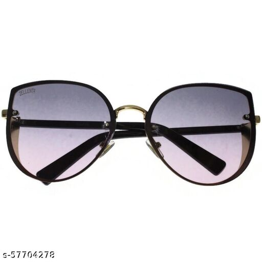 affable women over sized sunglasses by jazz inc, frame color gold and lens color burgundy (LWF220)