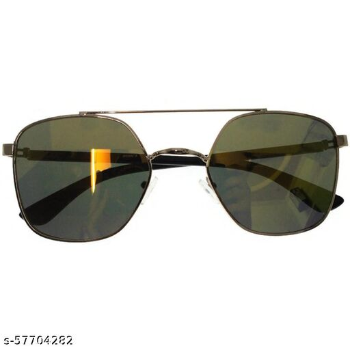 affable unisex over sized sunglasses by jazz inc, frame color golden and lens color golden (LWF139)