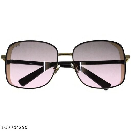 affable women over sized sunglasses by jazz inc, frame color gold and lens color purple (LWF218)