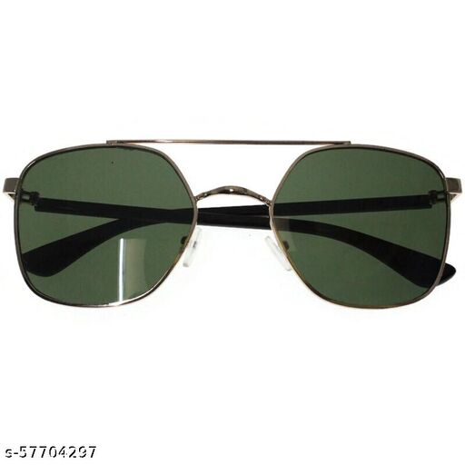 affable unisex over sized sunglasses by jazz inc, frame color golden and lens color green (LWF139)