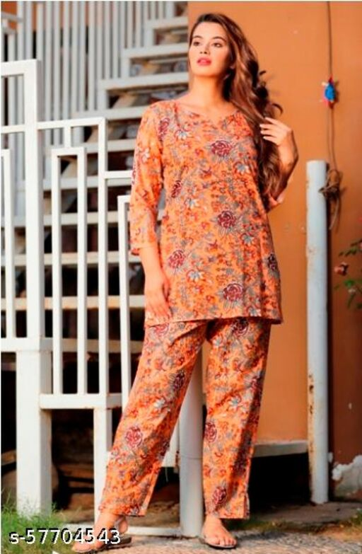 Veera Fab collection's Women Stylish Fancy Nightsuits
