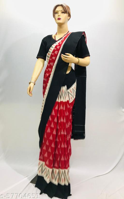 Pick Fashion Handwoven Mercerized Cotton Patola Saree