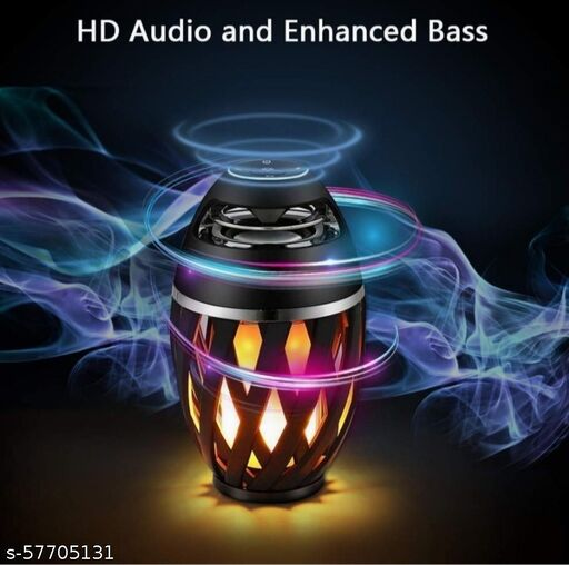 Led Flame Speaker, Torch Atmosphere Bluetooth Speakers & Outdoor Portable Stereo Speaker with HD Audio and Enhanced Bass,LED flickers Warm Yellow Lights BT4.2 for all Smartphones