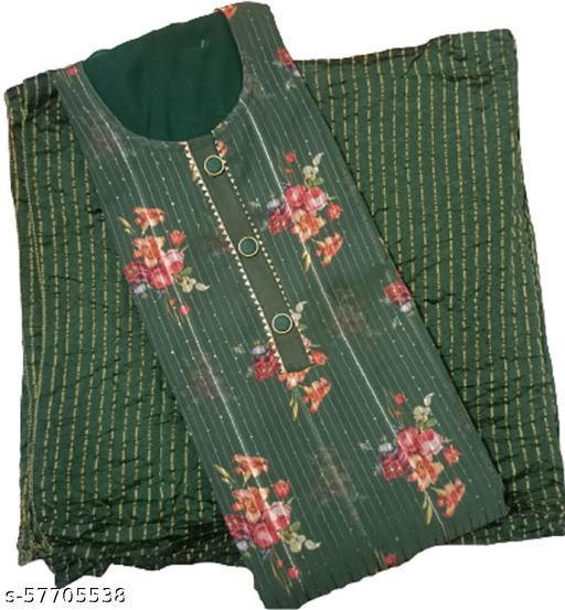 BBQSTYLE Women's Digital Print Sequins Worked Georgette Unstitched Salwar Suit Dress Material With Designer Chinnon Dupatta