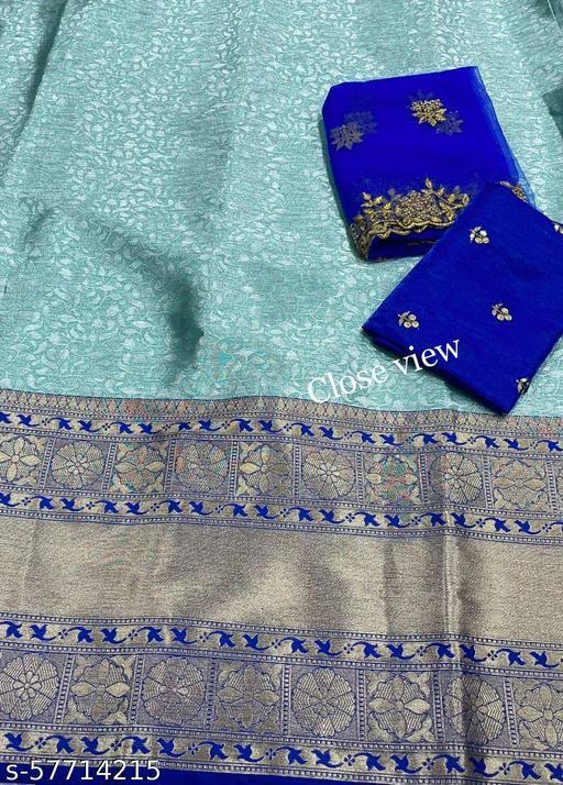 VINTAGESTUFF HALF SAREE LEHGHA CHOLI(Pure tissue paitani weaving Lehangas ,with contrast blouse and contrast cut work voni)