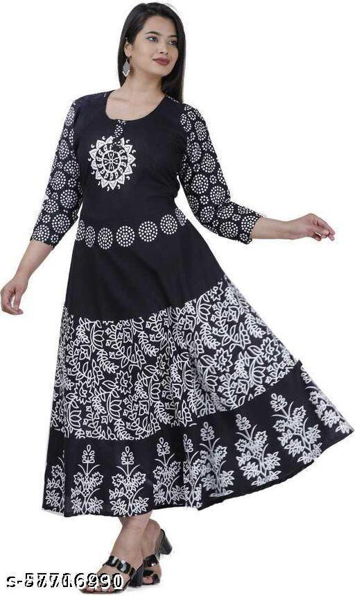 Black polka Gown